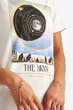 Spiritual Gangster The Moon Aurora Tee - Stone image 3 - The Sports Edit