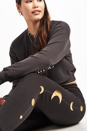 Spiritual Gangster Moon Muse Pant - Vintage Black image 3 - The Sports Edit