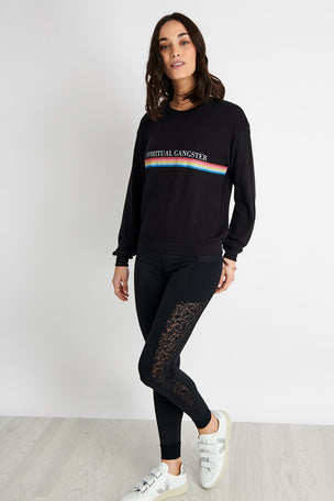 Spiritual Gangster SG Rainbow Savasana Crew Neck - Vintage Black image 2 - The Sports Edit