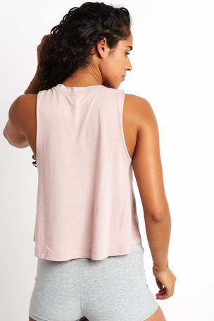Spiritual Gangster Shine Light Crop Tank - Rose Quartz image 3 - The Sports Edit