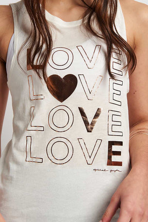 Spiritual Gangster Love Muscle Tank - Stone image 3 - The Sports Edit