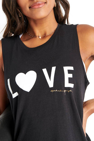 Spiritual Gangster Love Muscle Tank - Vintage Black image 5 - The Sports Edit