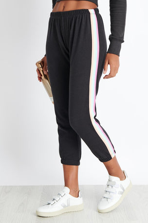 Spiritual Gangster Om Icon Perfect Sweatpant - Vintage Black image 1 - The Sports Edit