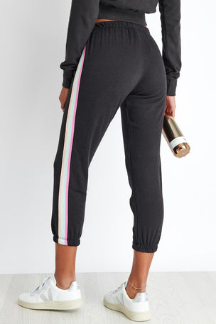 Spiritual Gangster Om Icon Perfect Sweatpant - Vintage Black image 3 - The Sports Edit