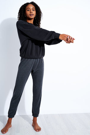 Spiritual Gangster Stars Perfect Sweatpant - Vintage Black image 2 - The Sports Edit