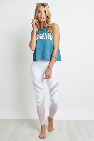 Spiritual Gangster SG Varsity Crop Tank Blue image 2 - The Sports Edit