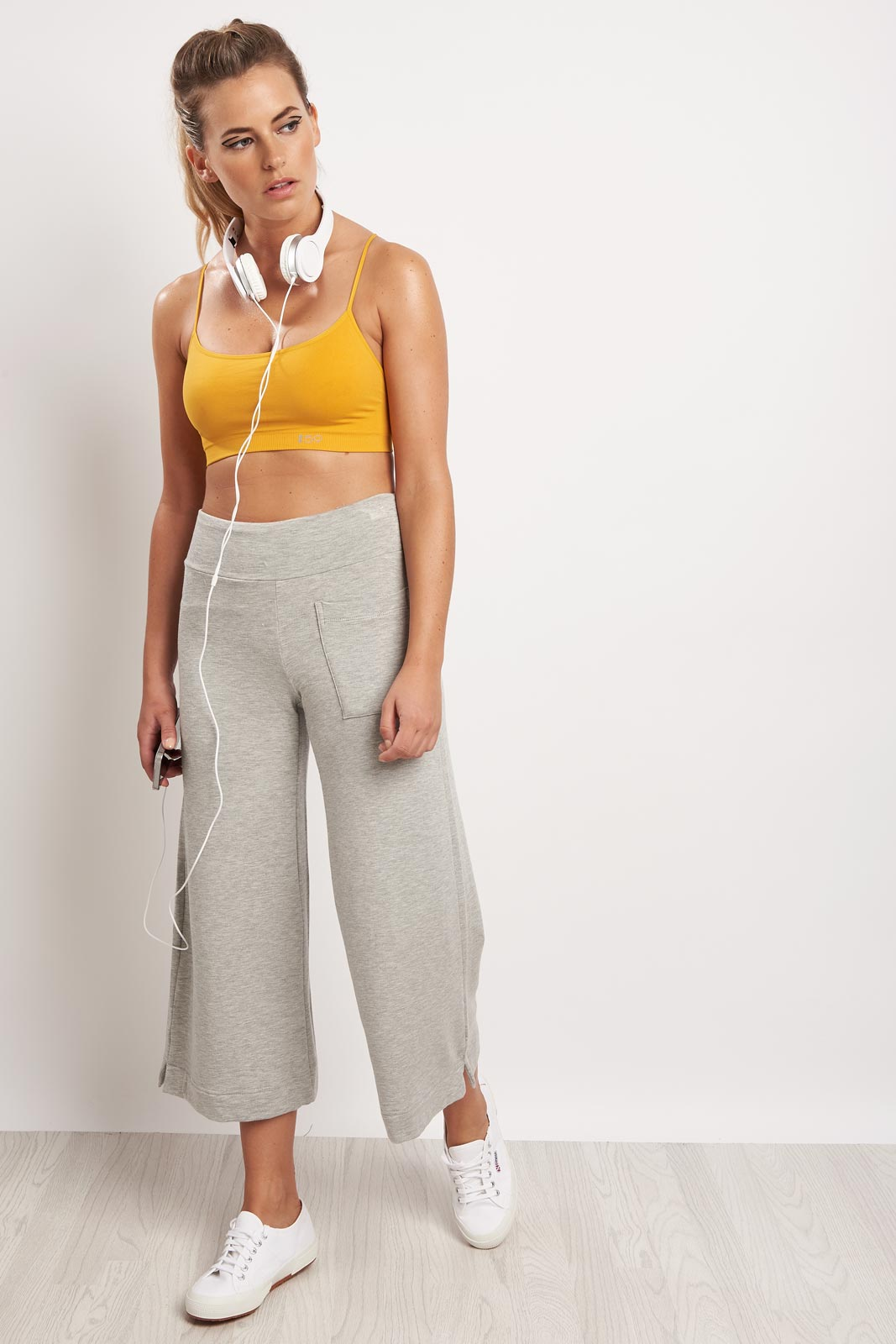Splits59 Runway Culotte Sweat Grey image 4 - The Sports Edit