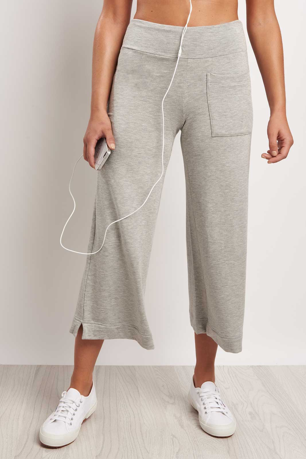 Splits59 Runway Culotte Sweat Grey image 1 - The Sports Edit