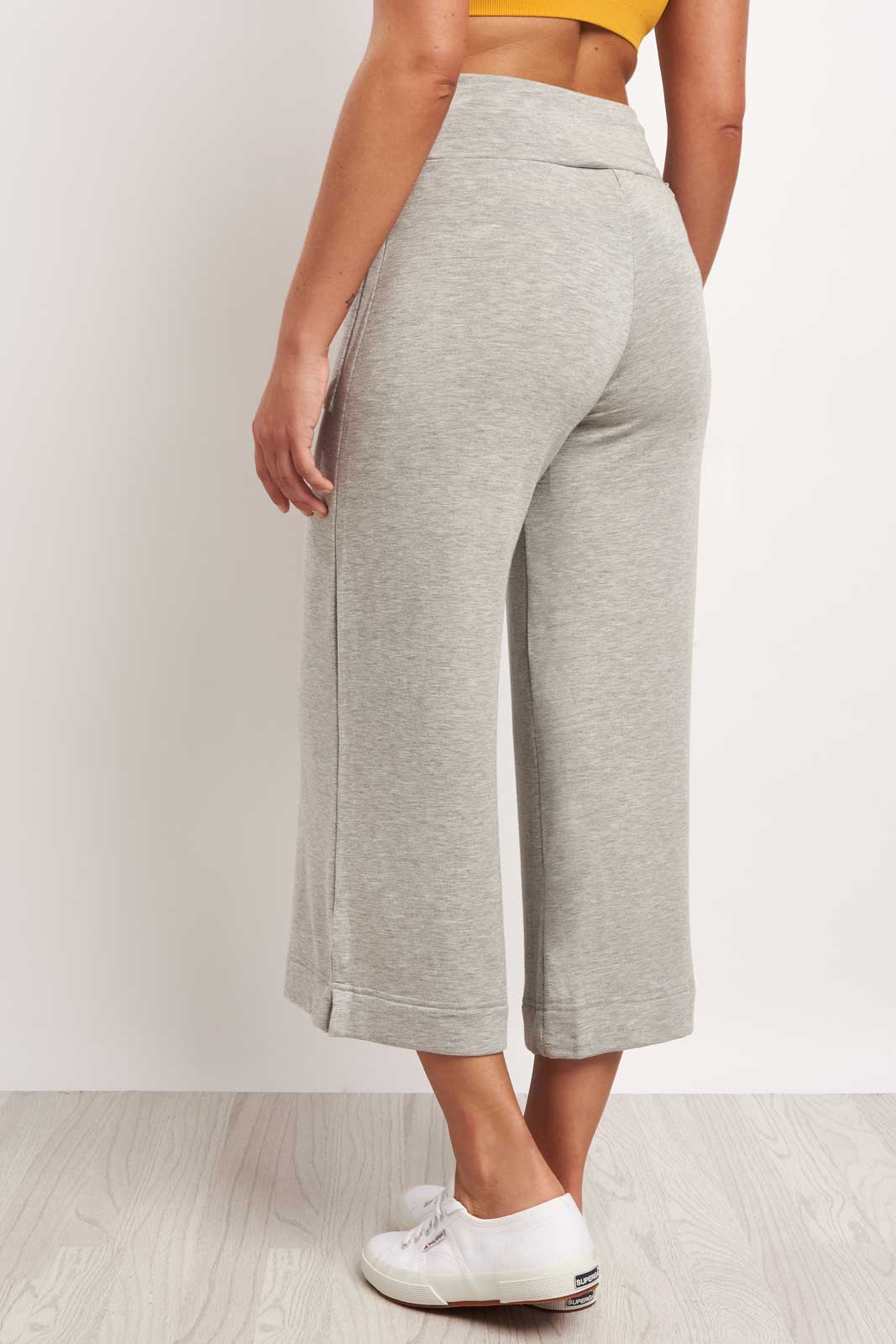 Splits59 Runway Culotte Sweat Grey image 2 - The Sports Edit