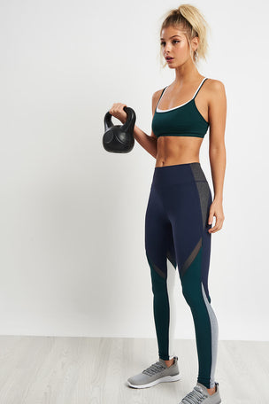 Splits59 Caroline Seamless Bra - Dark Forest/Off White image 4 - The Sports Edit