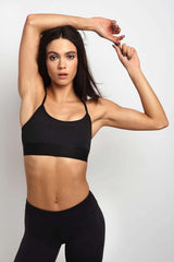Splits59 Impact Support Bra - Black image 1 - The Sports Edit