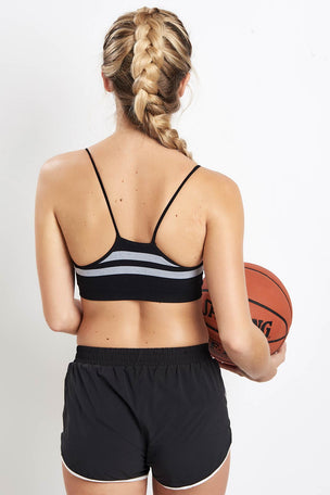 Splits59 Loren Seamless Bra - Black/White image 2 - The Sports Edit