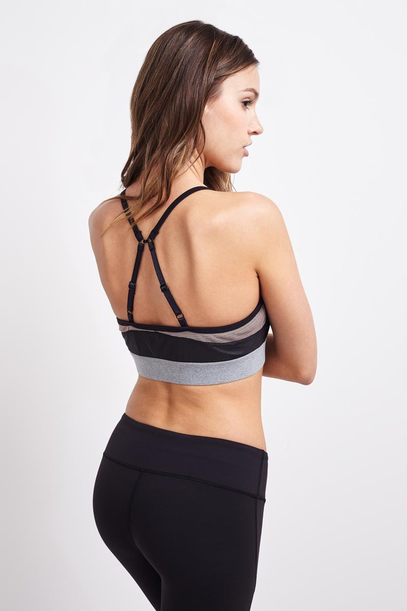 Splits59 Allegra Bra - Black/Grey image 2 - The Sports Edit