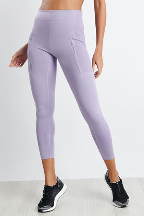 df9b94f9 adidas X Stella McCartney FitSense+ Training Tights - Lilac image 1 - The  Sports Edit