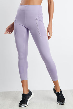 adidas X Stella McCartney FitSense+ Training Tights - Lilac image 1 - The Sports Edit
