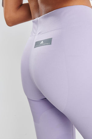 adidas X Stella McCartney FitSense+ Training Tights - Lilac image 4 - The Sports Edit