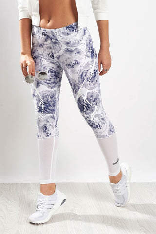 adidas X Stella McCartney Run Sprintweb Tight White/Noble Ink image 1 - The Sports Edit