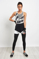 adidas X Stella McCartney Train Seamless Body - Black/White image 4 - The Sports Edit