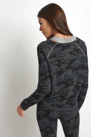 Sundry Pullover Siesta Queen-Black Camo image 2 - The Sports Edit