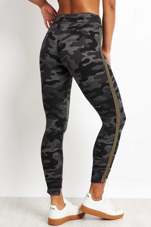 Sundry Camo Step Hem with Side Trim - Charcoal image 2 - The Sports Edit
