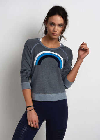 Sundry Crop Pullover Rainbow image 1 - The Sports Edit