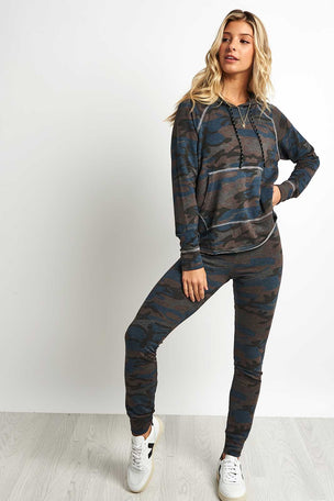 Sundry Camo Crop Hoodie image 4 - The Sports Edit