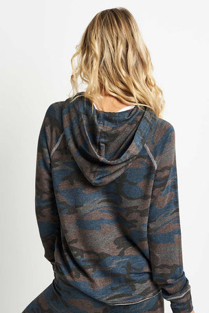 Sundry Camo Crop Hoodie image 2 - The Sports Edit