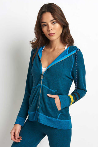 Sundry Live By the Sun Hoodie - River Blue image 1 - The Sports Edit