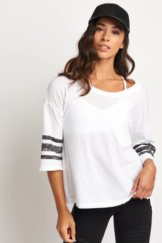 Sundry Oversized pocket tee - white image 1 - The Sports Edit