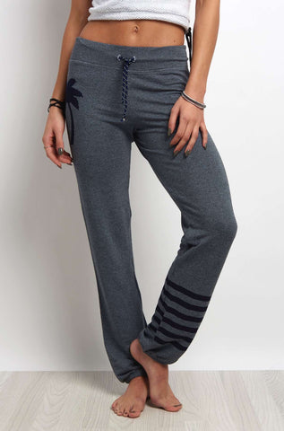 Sundry Sweatpant Palm Stripes Navy image 1 - The Sports Edit