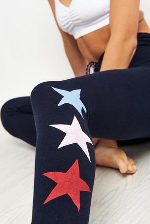 Sundry Tri Colour Stars Skinny Sweatpants image 3 - The Sports Edit