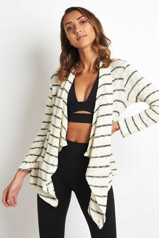 Sundry Striped Love Always Cardigan image 1 - The Sports Edit