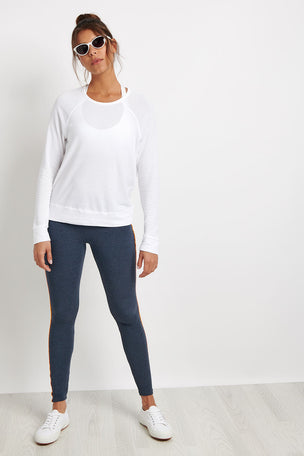 Sundry Destinations Crop Pullover - White image 3 - The Sports Edit