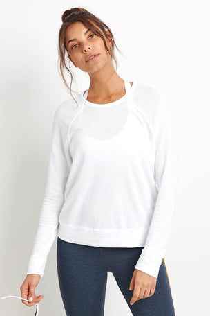 Sundry Destinations Crop Pullover - White image 4 - The Sports Edit
