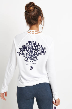 Sundry Destinations Crop Pullover - White image 1 - The Sports Edit