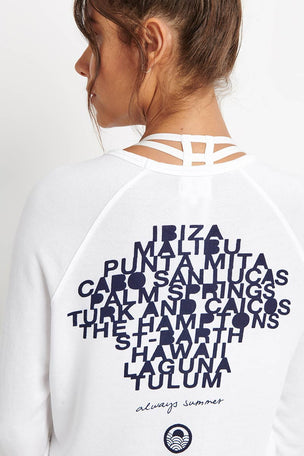 Sundry Destinations Crop Pullover - White image 2 - The Sports Edit