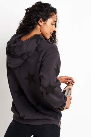 Sundry Stars Side Zipper Hoodie - Soft Black image 2 - The Sports Edit