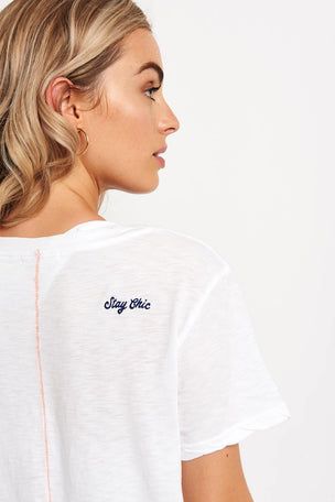 Sundry Stay Chic Tee - White image 3 - The Sports Edit