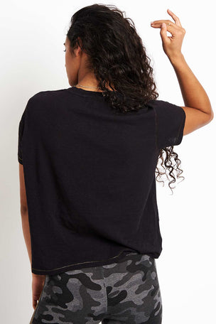 Sundry Gold Stitching Vintage Tee - Black image 2 - The Sports Edit