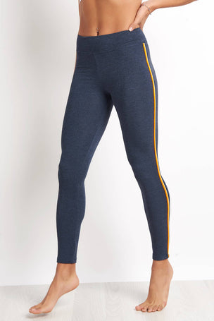 Sundry Yoga Pant with Trim - Navy image 5 - The Sports Edit