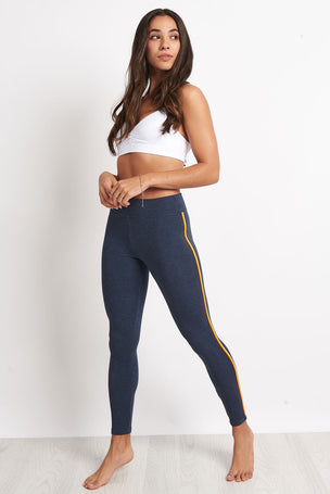 Sundry Yoga Pant with Trim - Navy image 4 - The Sports Edit