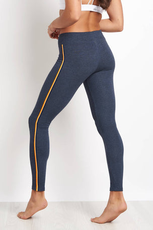 Sundry Yoga Pant with Trim - Navy image 2 - The Sports Edit