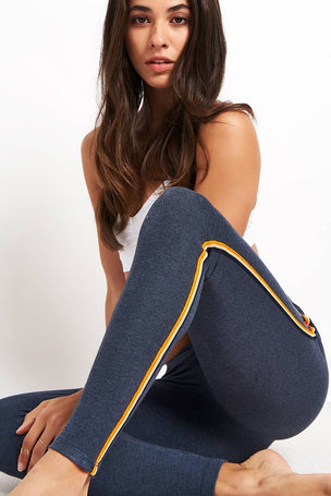 Sundry Yoga Pant with Trim - Navy image 3 - The Sports Edit