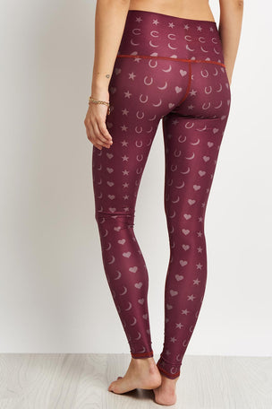 Teeki Fortune Teller Hot Pant - Burgundy image 2 - The Sports Edit