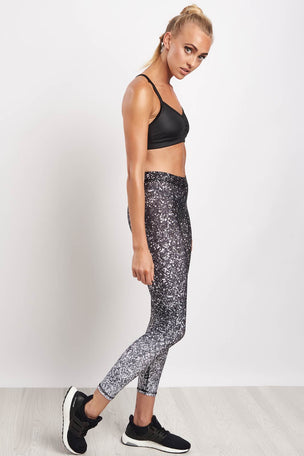 Terez Black & White Glitter Performance Leggings image 5 - The Sports Edit