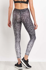 Terez Black & White Glitter Performance Leggings image 2 - The Sports Edit