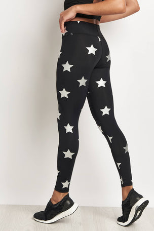 Terez Silver Star Tall Band Legging image 2 - The Sports Edit