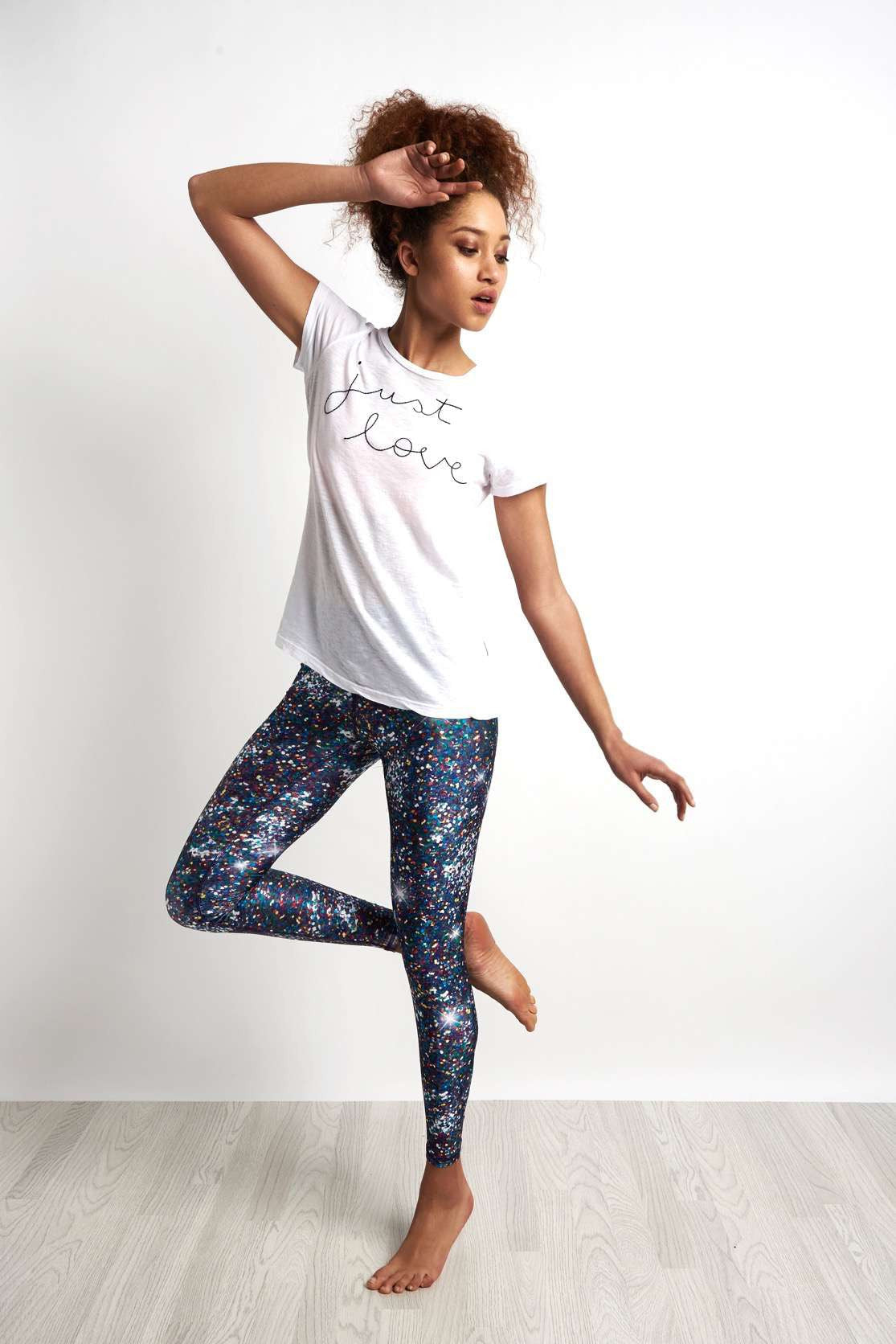 Terez Night Sparkle Legging image 4 - The Sports Edit