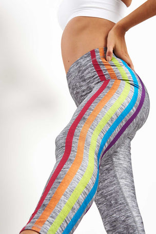 Terez Some Stripe of Way Performance Leggings image 3 - The Sports Edit