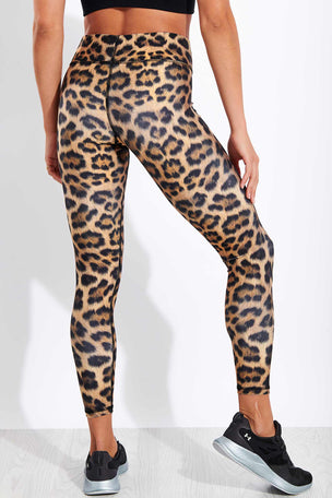 Terez Leopard Goals Tall Band Leggings image 3 - The Sports Edit